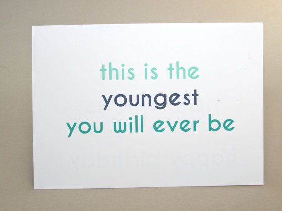 Funny Birthday Card Youngest Ever By Fungirlscards On Etsy Funny