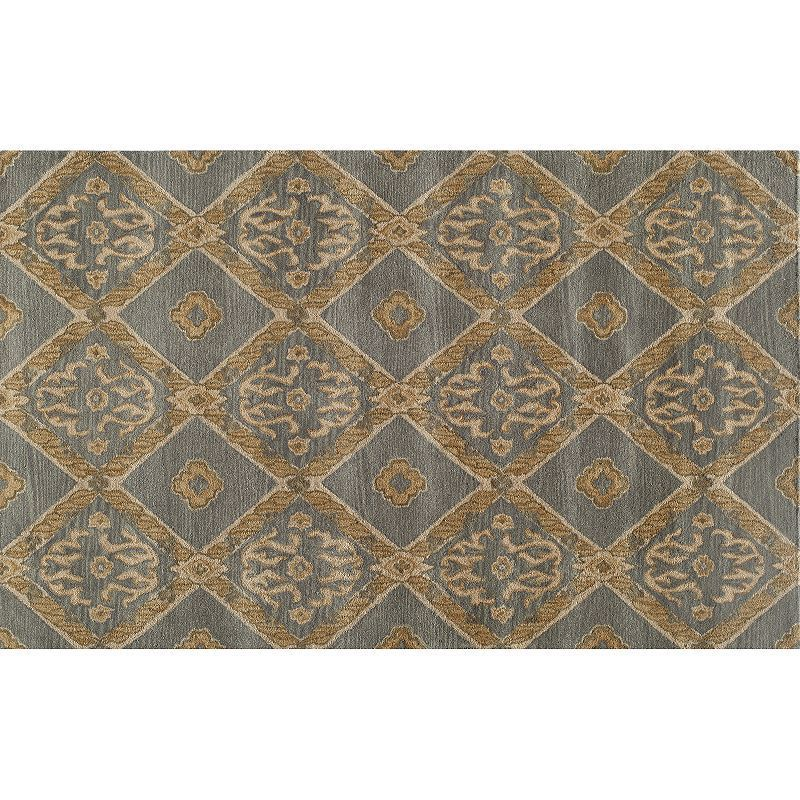 Momeni Habitat Diamond Scroll Rug, Blue