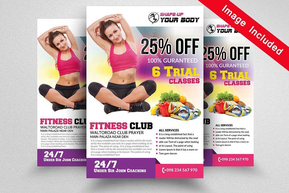 Fitness Club Flyer Templates Psd