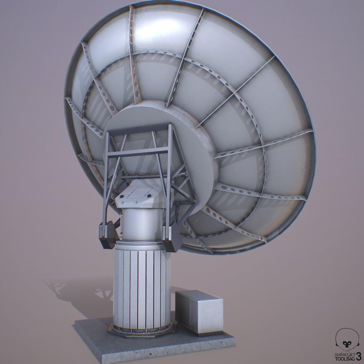 Satellite Dish Model Satellite Dish Satellites Concept Art