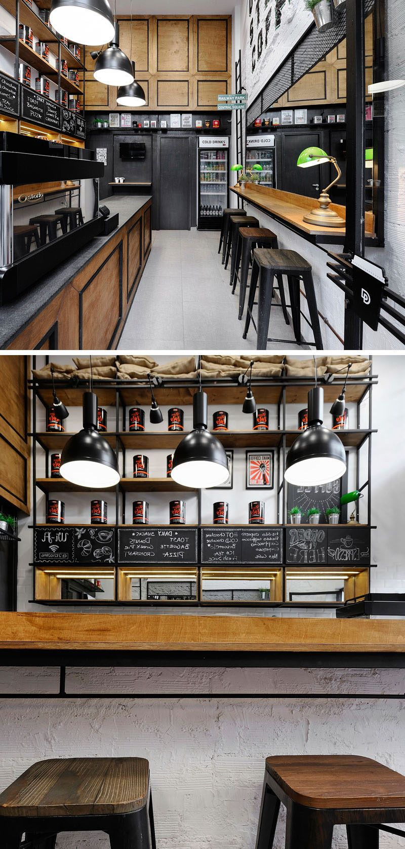 Andreas Petropoulos Has Designed A Small Takeaway Coffee Bar In Greece | Industrial cafe, Cafe ...