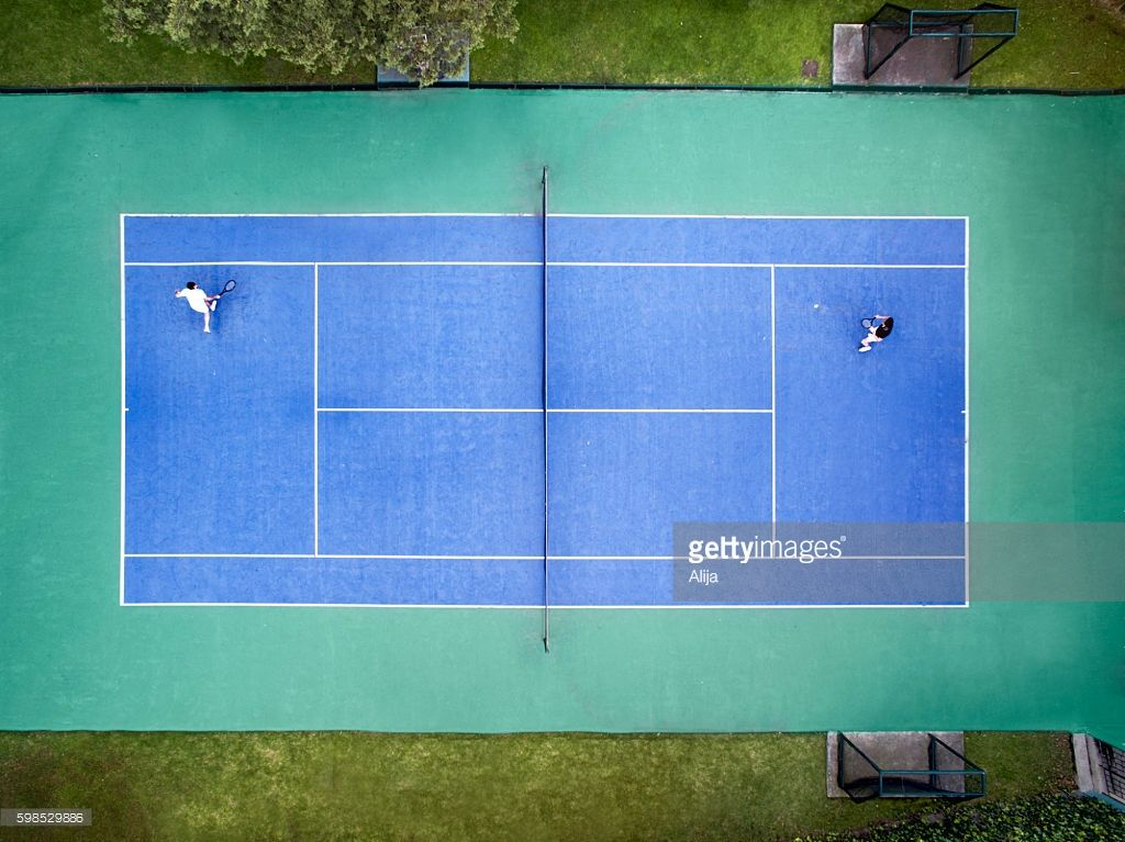 Aerial View Of Tennis Court Tennis Court Tennis Aerial View