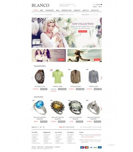 Blanco WordPress WooCommerce Theme | WordPress | Pinterest