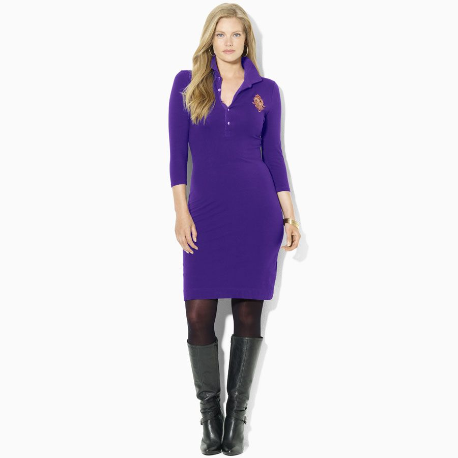 Lauren by Ralph Lauren Plus Size Jersey Crest Polo Dress #VonMaur ...