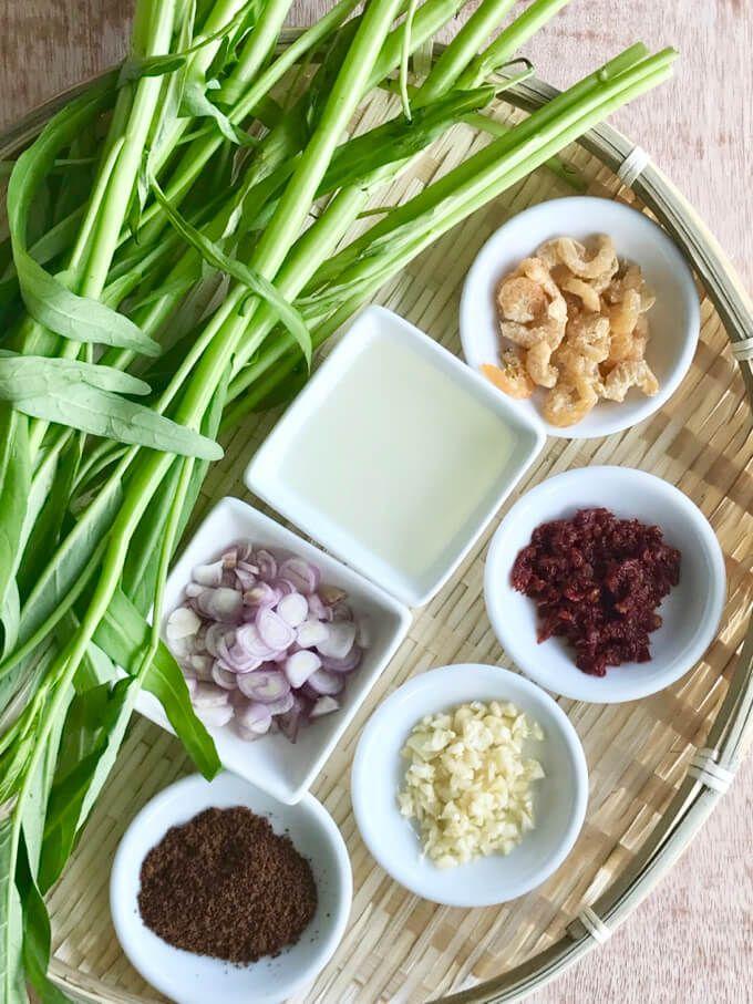 Spicy Water Spinach Sambal Kangkong 马来风光 Recipe Kangkong Recipe Veggie Recipes Spicy