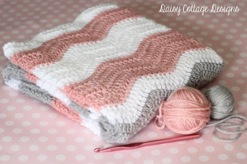 Ripple Blanket Crochet Pattern Yarns Blanket And Box