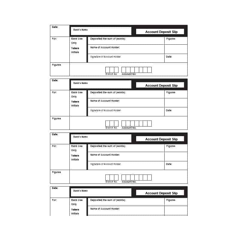 Bank Deposit Ticket Template Templates Ticket Template Deposit