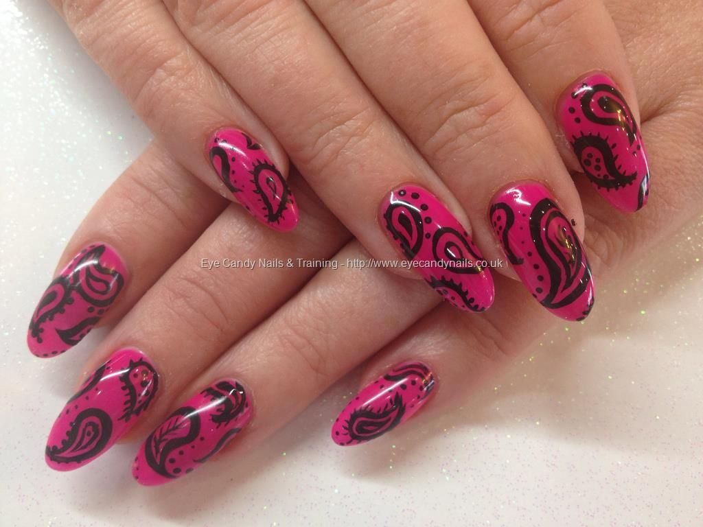 Ibd Parisol Gel Polish With Freehand Paisley Nail Art Design Over