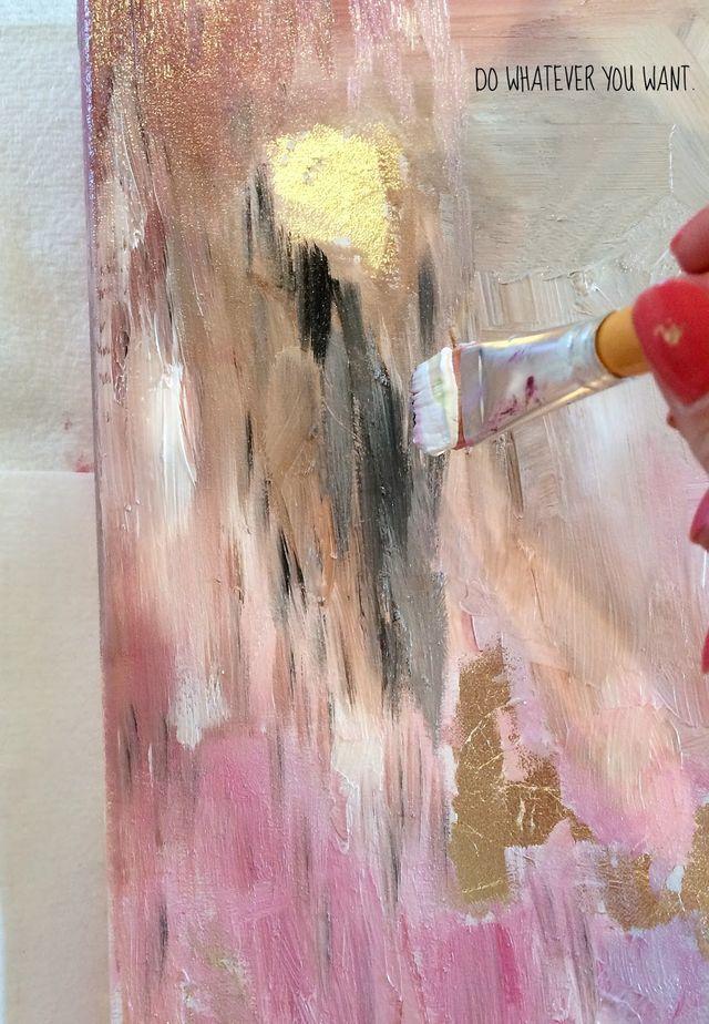 How To Make DIY Gold Leaf Abstract Art (LiveLoveDIY ... - photo #17