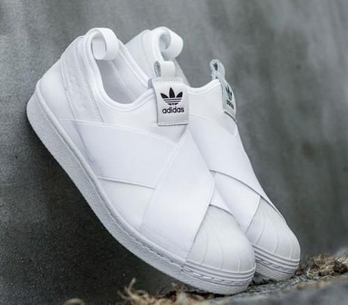 Adidas Superstar Slip On Shoes | Tênis adidas branco, Tenis