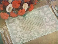 Picture of Embossed Daisy Placemat Free Pattern