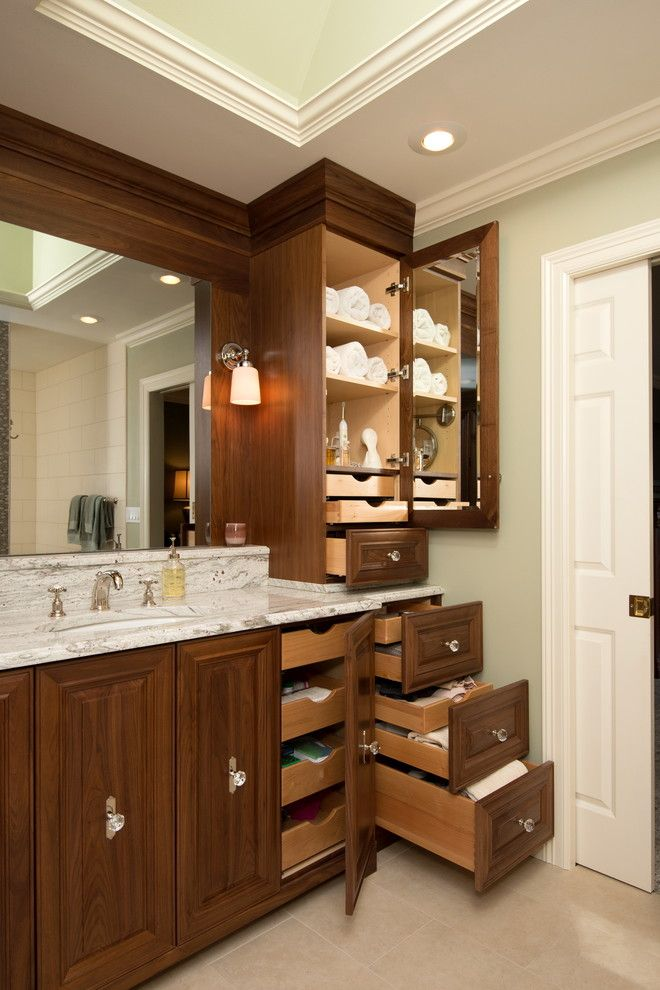 Storage Solution For Small Bathroom Drawers Cabinet Lamps Mirror Sink  Faucet Traditional Room Of Smart Storage Solutions For Small Bathrooms To  Be Inspired ...