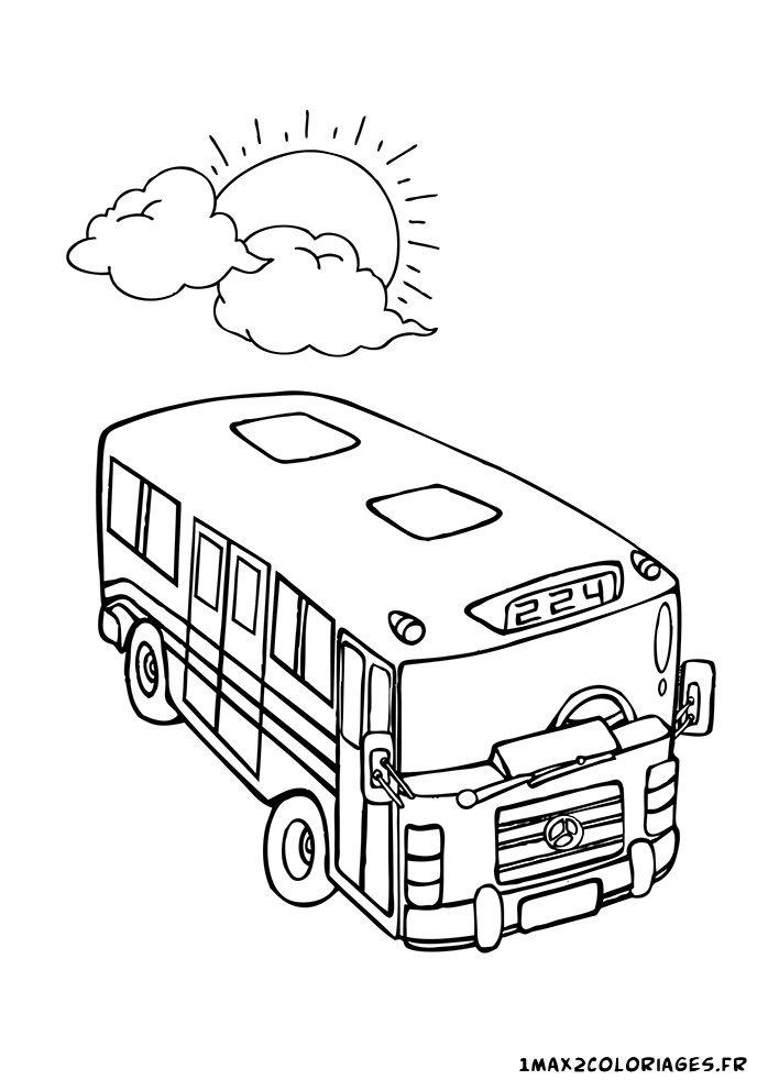 coloriage le bus 224 coloriage Pinterest Coloriage
