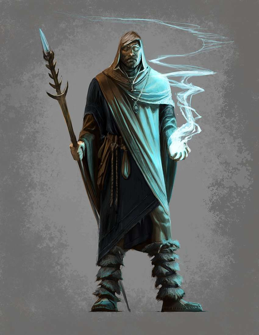 Concept art of Male Mage Apprentice Robes from The Elder ...