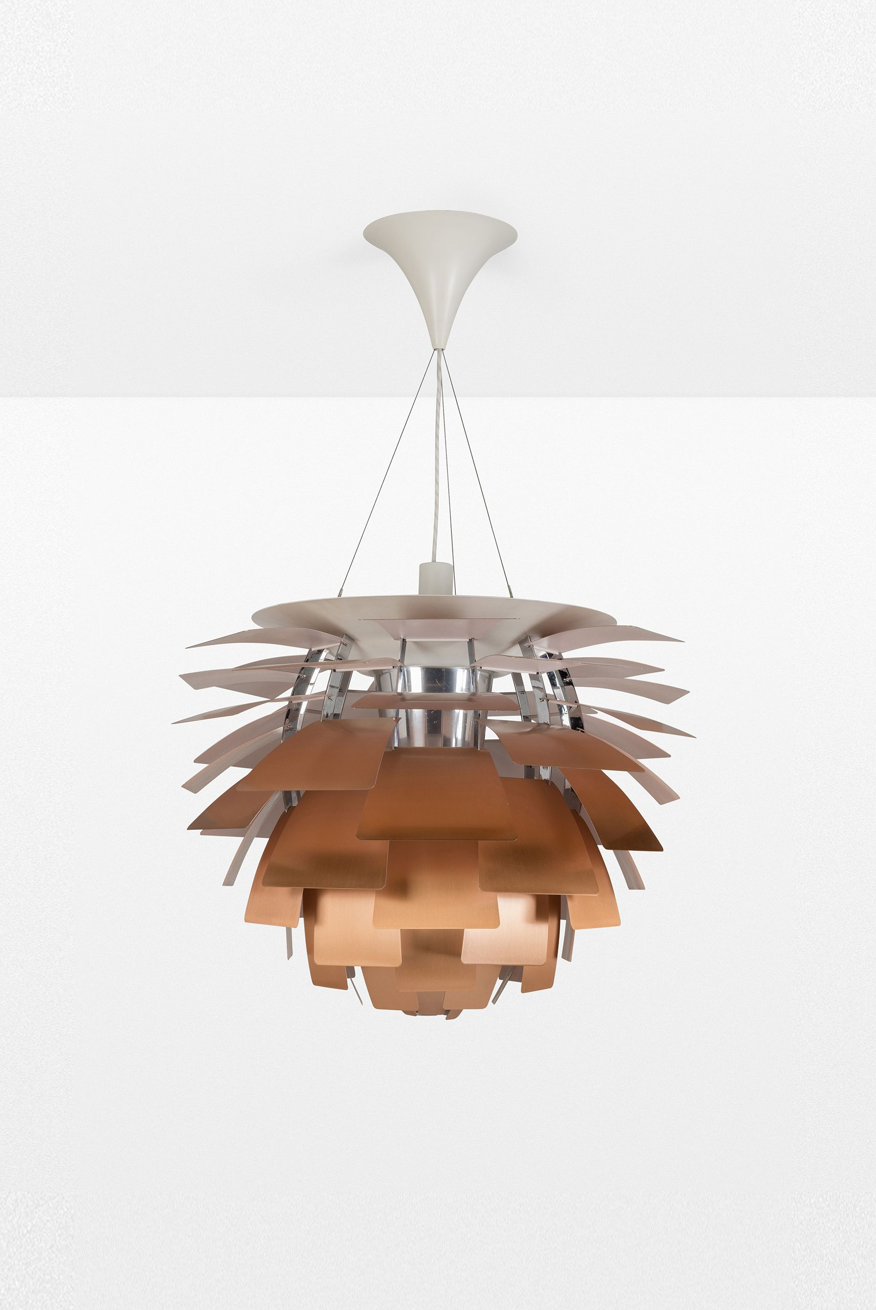 Poul Henningsen (1894-1967) PH Artichoke Suspension Cuivre, métal ...