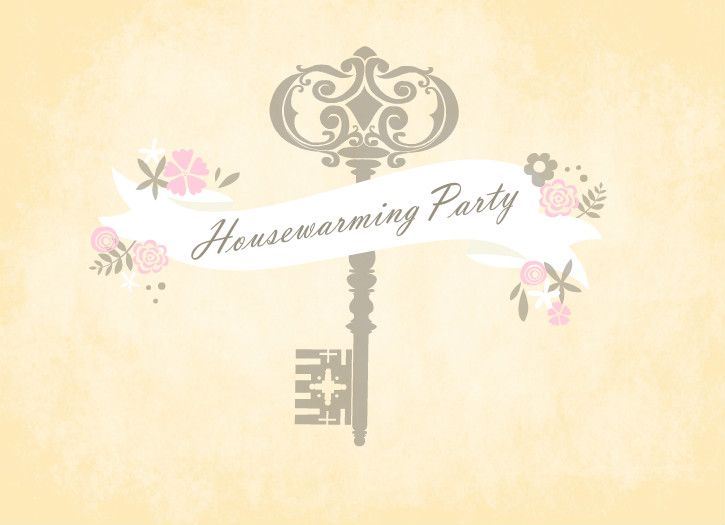 Antique Floral Banner Housewarming Invite Housewarming Ideas - housewarming invitation template