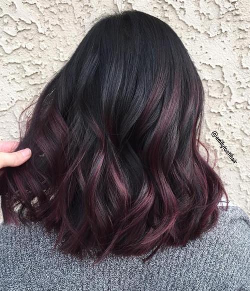 Photo of 45 tonos de cabello burdeos: burdeos oscuro, granate, burdeos con rojo, violeta y …