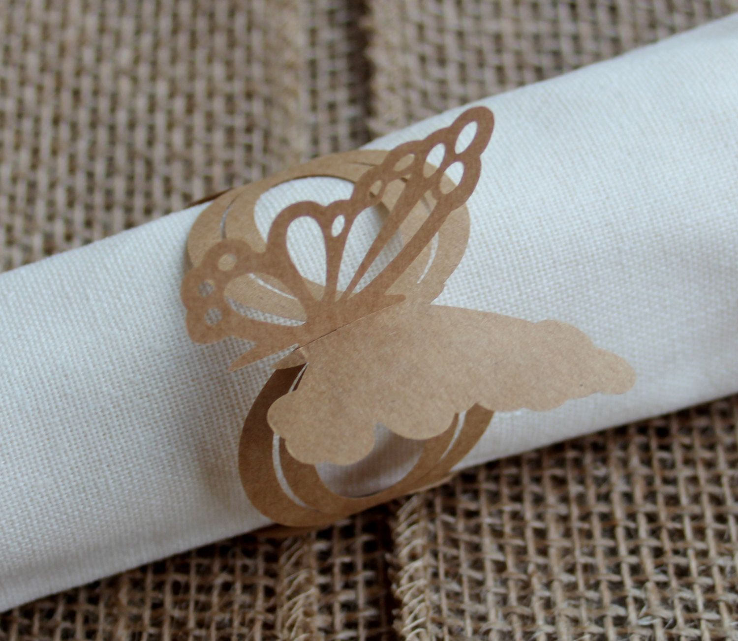 Kraft Paper Butterfly wraps, baby girl, baby shower, wedding, party decor, entertaining, lace, little girl, birthday, bags, napkins, vase by GildedBirch on Etsy https://www.etsy.com/listing/186941196/kraft-paper-butterfly-wraps-baby-girl