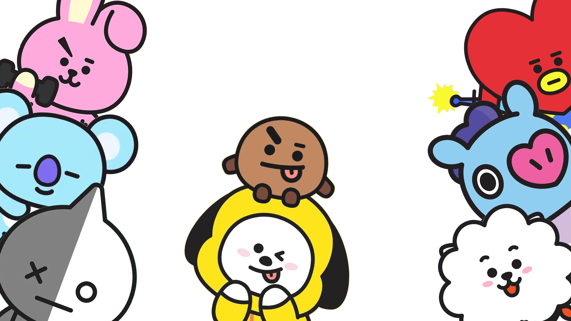 Bt21 Desktop Hd Wallpaper Kertas Dinding Komputer Desktop Wallpaper Lucu
