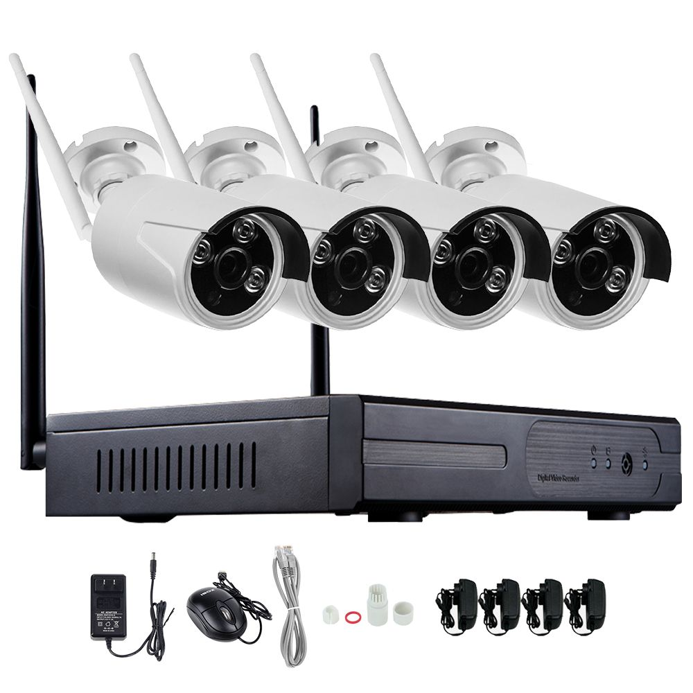 1080p 4ch wireless nvr cctv system wifi 2 0mp ir outdoor bullet p2p ip camera waterproof. Black Bedroom Furniture Sets. Home Design Ideas