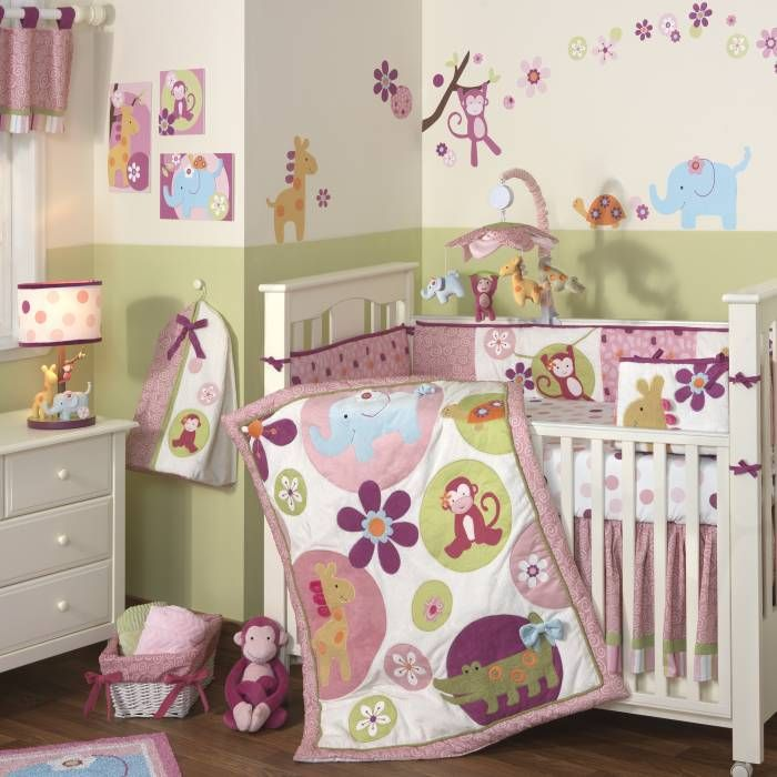 Lollipop Jungle Baby Crib Bedding By Lambs And Ivy