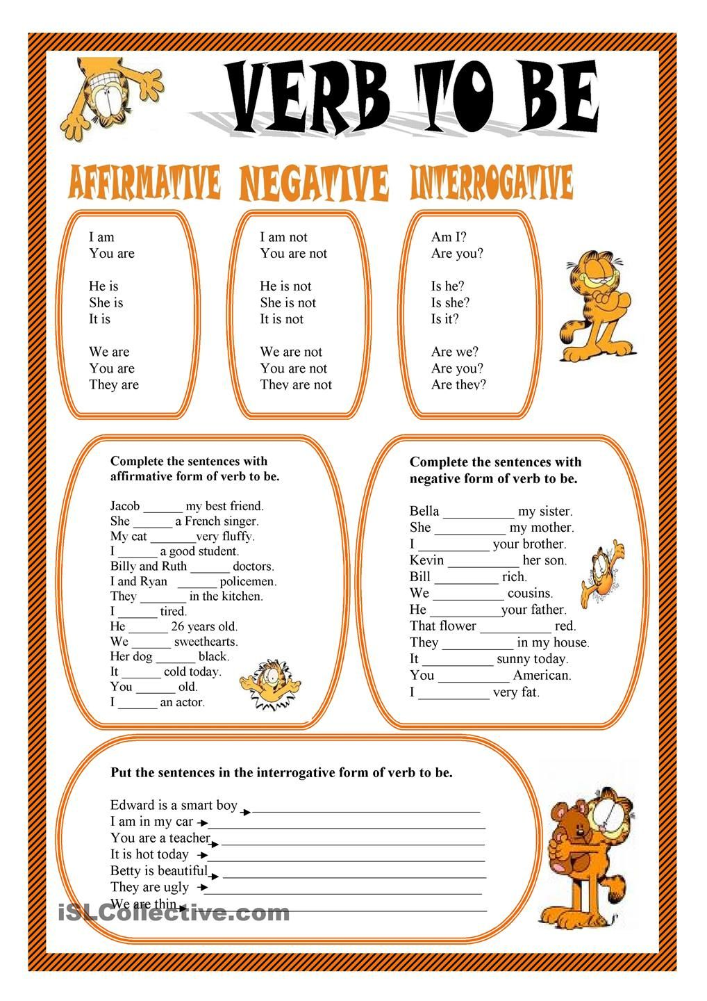 worksheet To Be Verbs Worksheet verb to be worksheet kindergarten level english pinterest billedresultat for fverb be