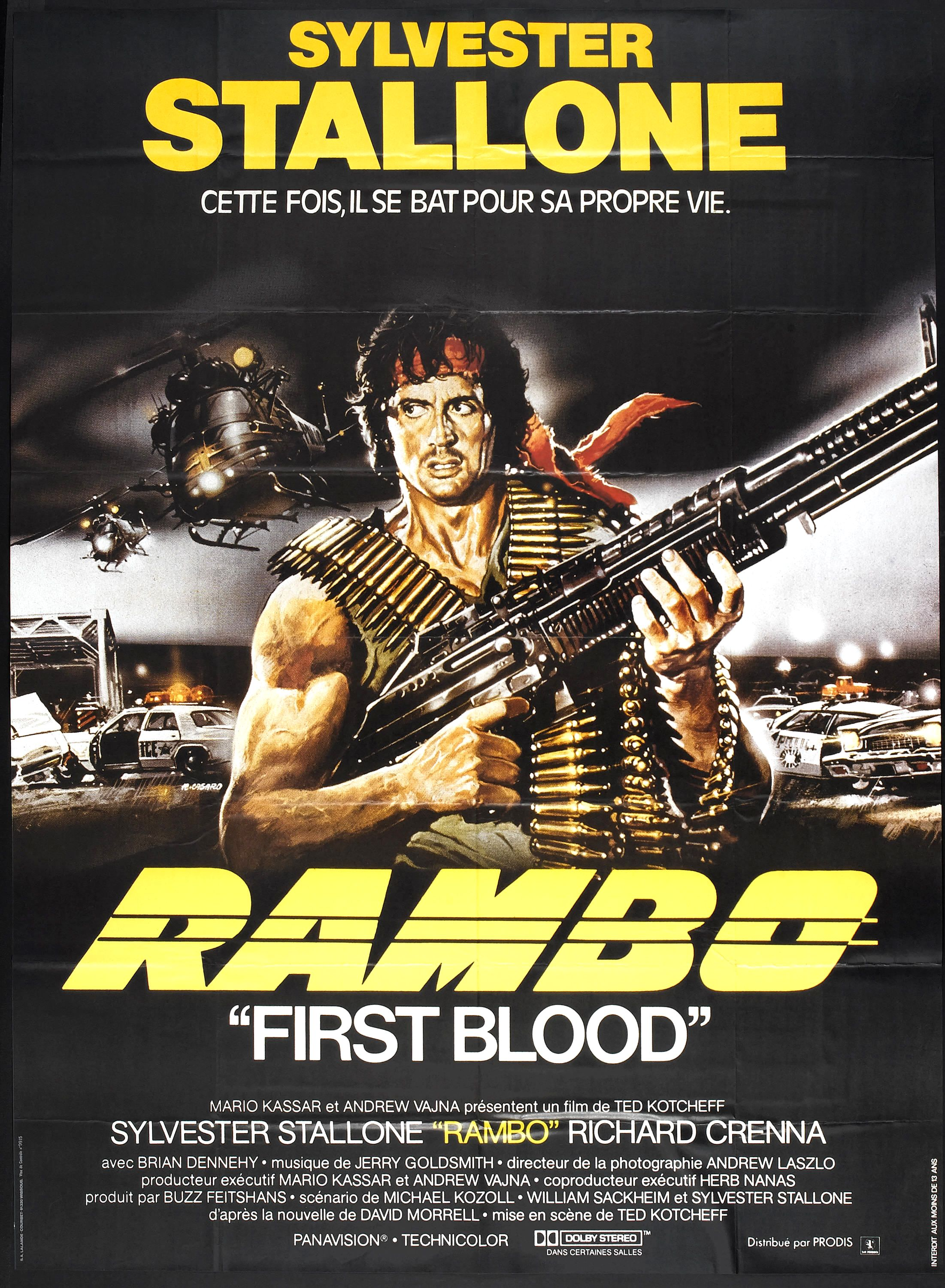 First Blood 1982 Rambo Sylvester Stallone movie poster print 4