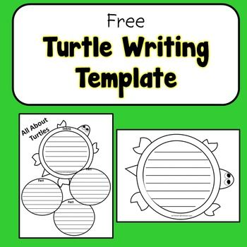 Lovely NO PREP 1st Or 2nd Grade Science Turtle Writing Template