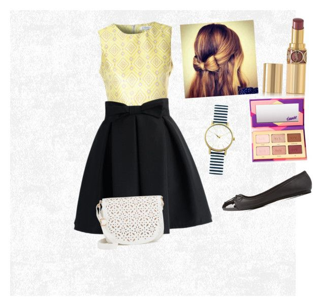 Untitled #36 by halle0729 on Polyvore featuring polyvore, fashion, style, Glamorous, Chicwish, Qupid, Under One Sky, New Look, tarte, Yves Saint Laurent and clothing