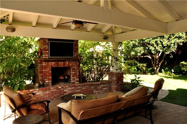 Outdoor Fireplace And Tv Outdoor Fireplace The Green Scene ...