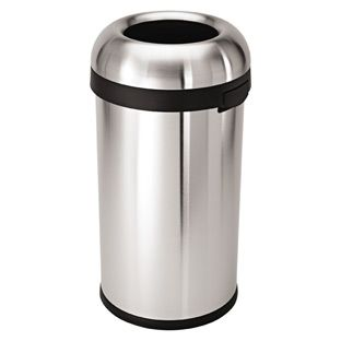 The Container Store > simplehuman® 15.8 gal. Stainless Steel Bullet Open Can