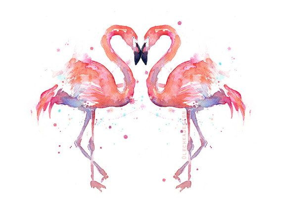 Flamingo Wall Art Flamingo Art Print Flamingo Painting Pink
