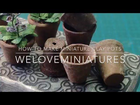 Hi Miniature Friends Today I Show How I Paint Zinc Effect On A Miniature Flower Pot To Visit My Blog Go To Www Welo With Images Miniature Clay Pots Clay Pots Miniatures