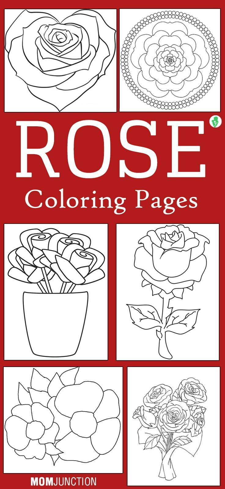 Top 25 Free Printable Beautiful Rose Coloring Pages for Kids | Rose ...
