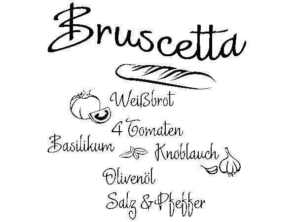 Wandtattoo Rezept Bruscetta