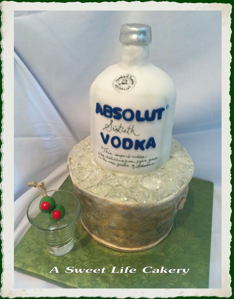 Fantastic Absolut Vodka Birthday Cake With Images Birthday Cake Vodka Funny Birthday Cards Online Alyptdamsfinfo