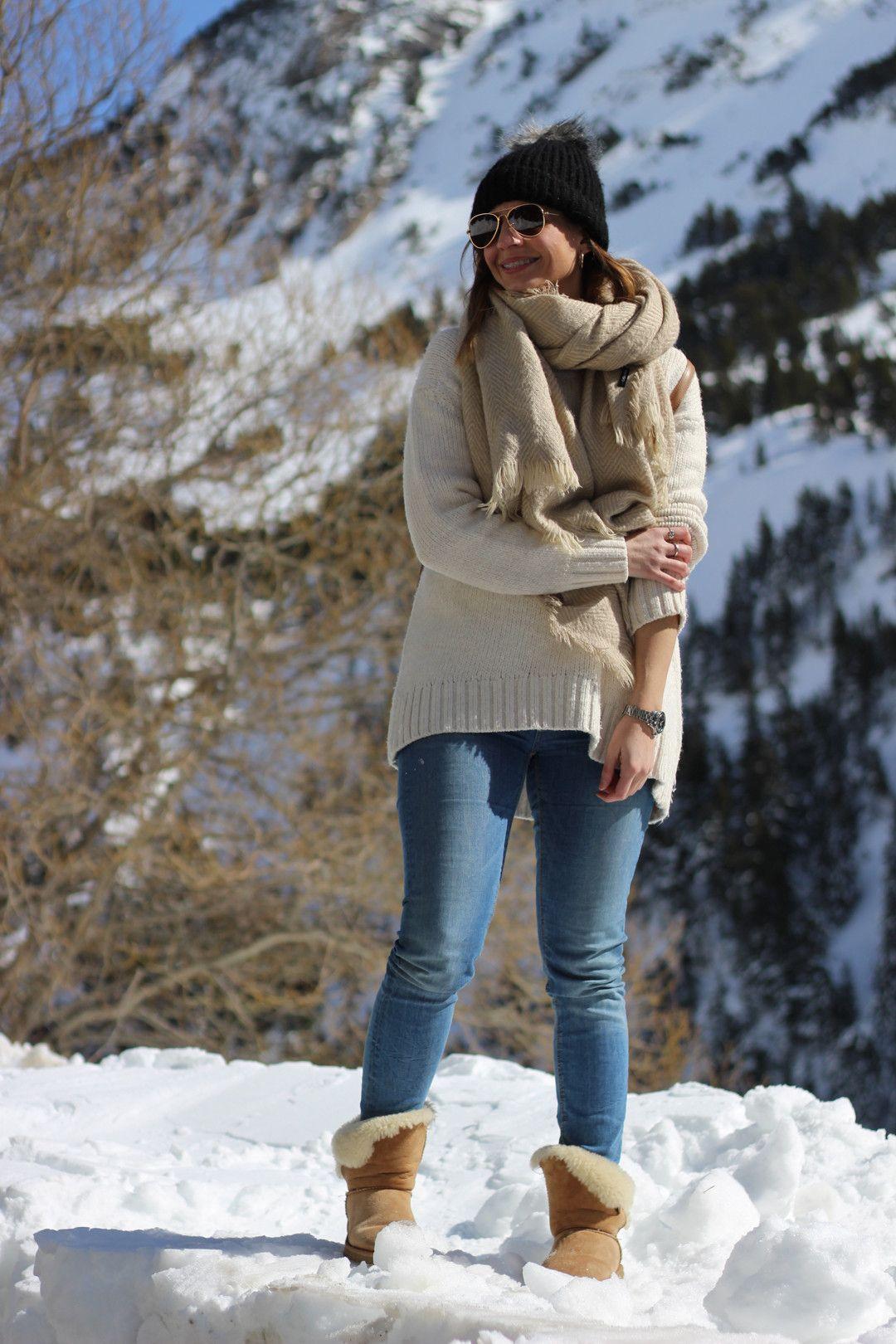 Invierno Brown Beany Hat Outfit Marrones Scarf Ugg Con De Botas Sq5Hpw