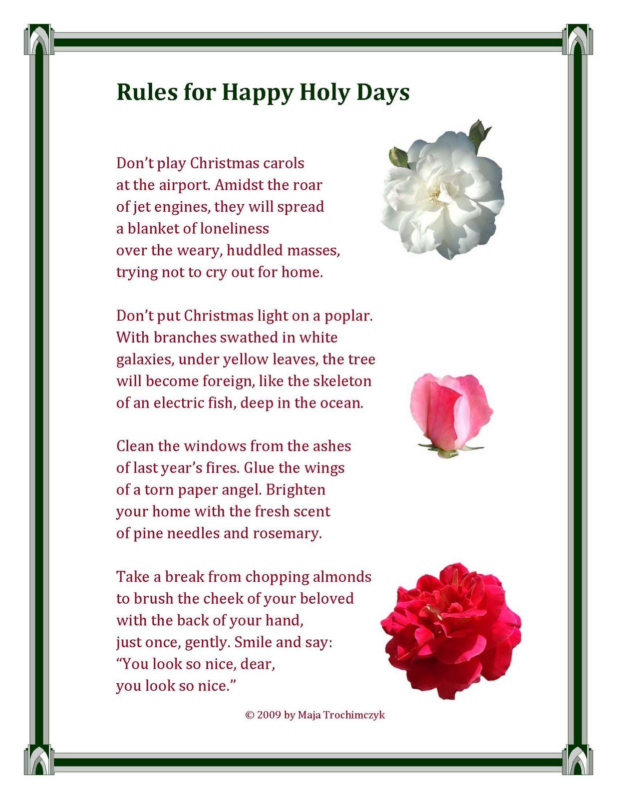 family christmas poems google search