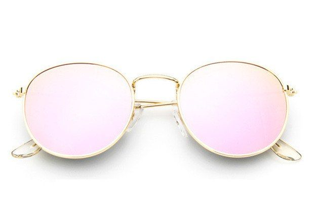 eb114e0d6d403 Retro Round Aviator Sunglass Women