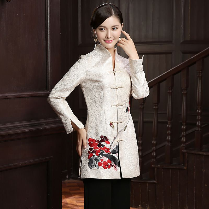 9a298903c Impressive Embroidery Frog Button Oriental Style Jacket - Chinese Jackets &  Coats - Women