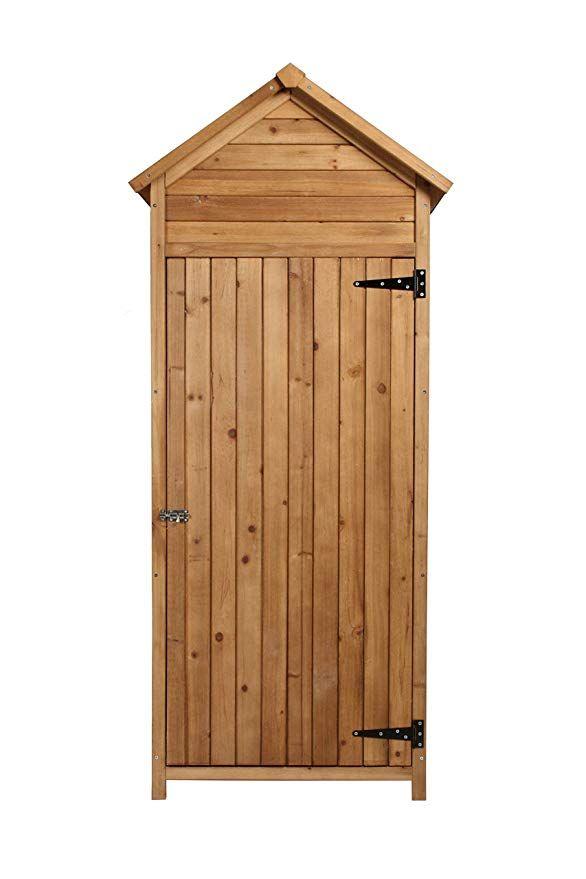 vanvilla Geräteschrank Geräteschuppen Holz Satteldach