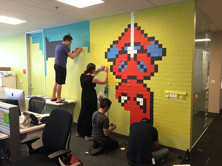 This office worker used 8,024 Post-It notes to turn his drab office ...