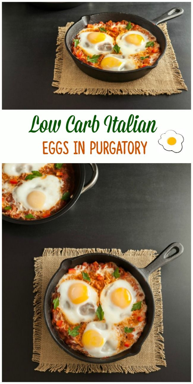 Low Carb Italian Eggs in Purgatory- Paleo, low carb and keto.