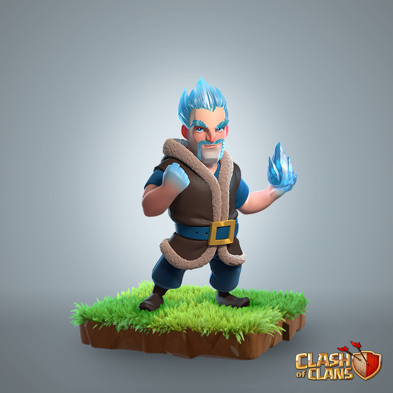 Ice Wizard, Supercell Art