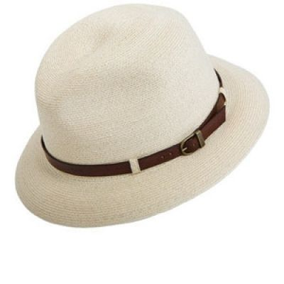 Grevi Hat Straw with Leather Band  d2aee75f086d