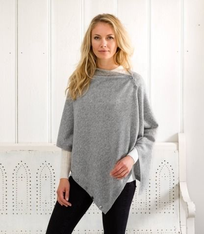 cashmere & merino poncho & shrug for women | Woolovers Discount ...