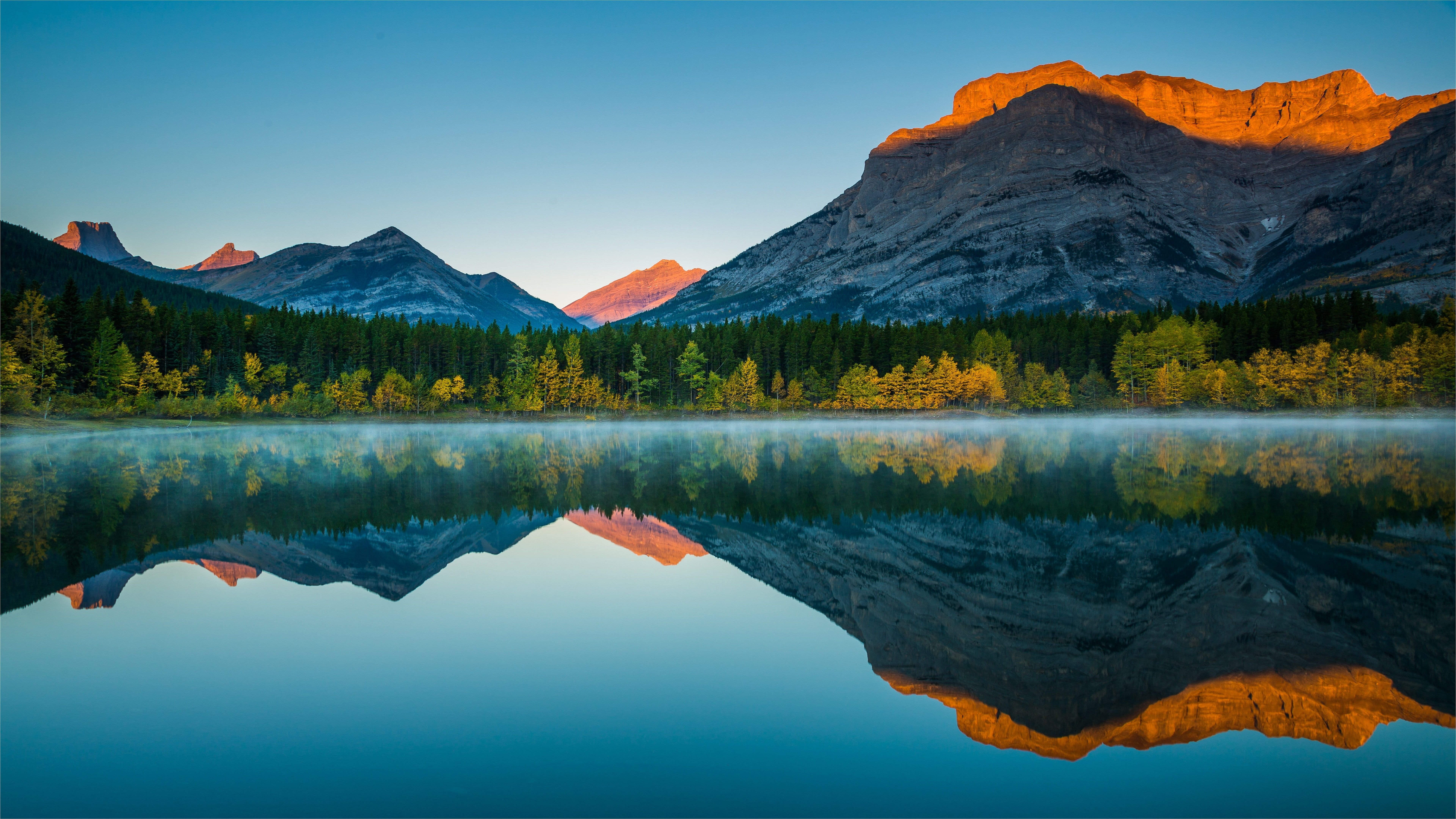 Reflection Nature Wilderness Lake Reflected Mountain Sky Water Autumn Morning Moun Beautiful Landscape Wallpaper Pretty Landscapes Landscape Pictures