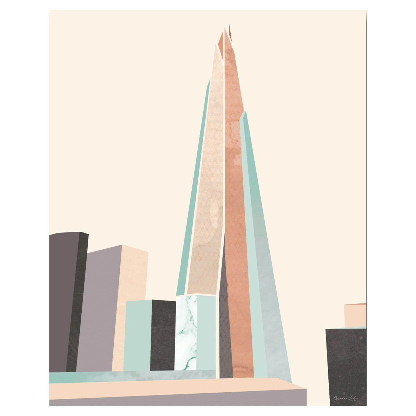 Courtside Market Graphic Pastel Architecture I Wall Art - WEB-GEO101 ...