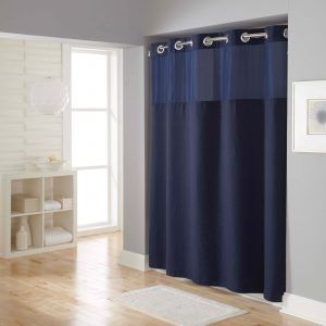 Superieur Hookless Waffle Fabric Shower Curtain And Liner Set | Http://otmh.us |  Pinterest | Navy Blue Shower Curtain, Hookless Shower Curtain And Masculine  Bathroom