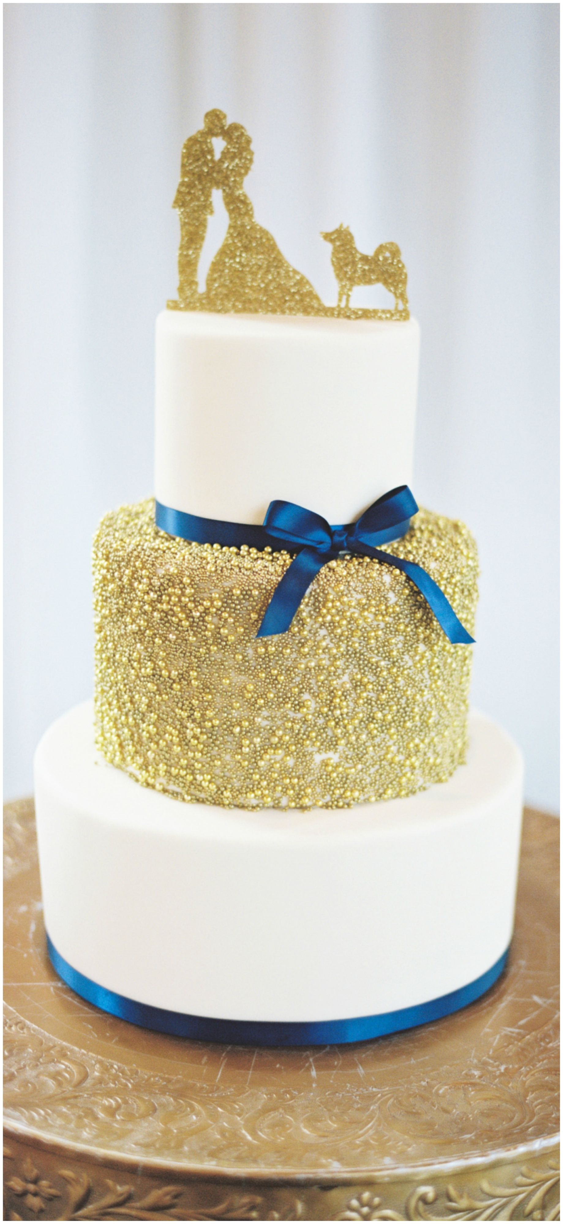 The Smarter Way to Wed | Wedding cake gold, Gold cake topper and ...